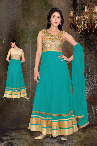 Women Anarkali Suit USDS-4982-TURCOISE