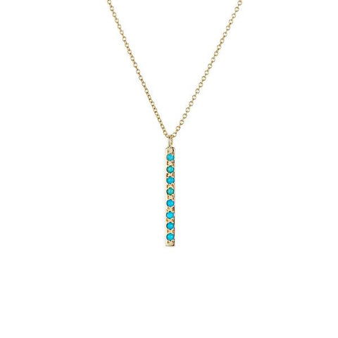 Long Bar Turquoise Necklace - Lori McLean