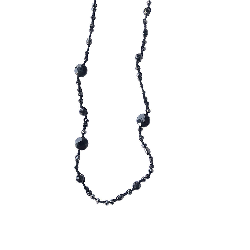Black Onyx & Spinel Necklace - Lori McLean