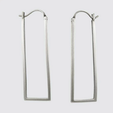 Long Rectangle Hoop Earring