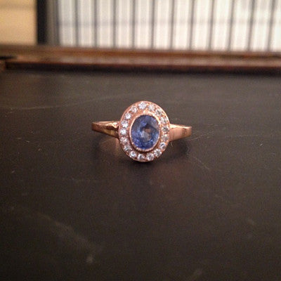 Custom Band for an Oval Sapphire Engagement Ring - Lori McLean