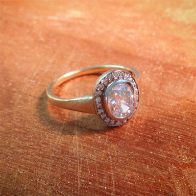 Custom Oval Halo Engagement Ring - Lori McLean