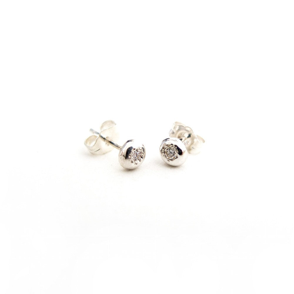 Sterling Diamond Studs - Lori McLean