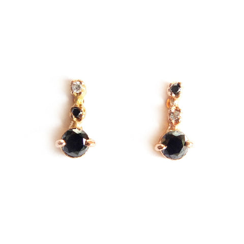 Black and White Diamond Studs - Lori McLean