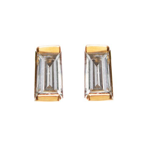 Diamond Baguette Stud