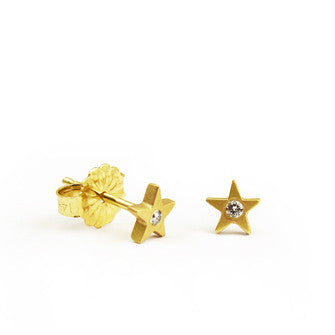 Star with Diamond Button Studs - Lori McLean