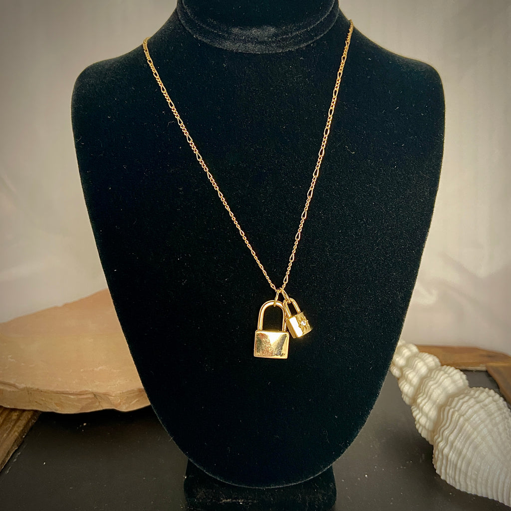 Big & Little Lock Necklace