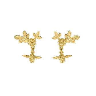 Floral Cluster Studs With Bee Drops - Lori McLean