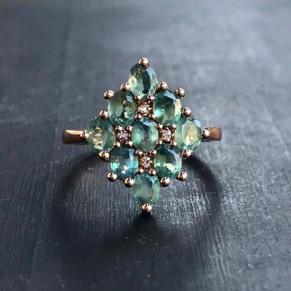 Custom Lofted Alexandrite Ring - Lori McLean