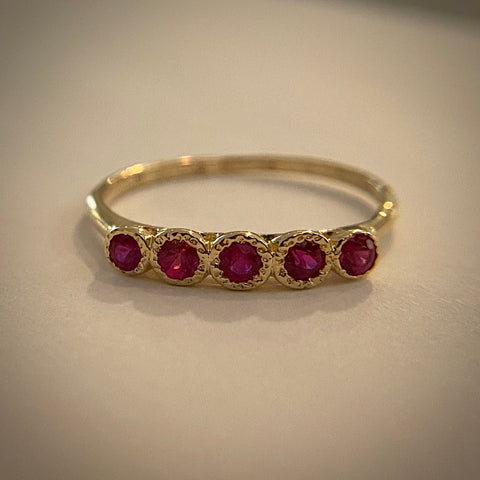 Five Ruby Ring