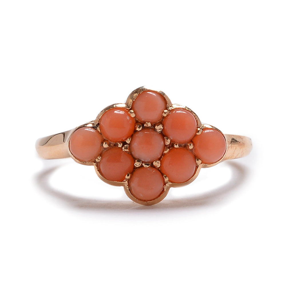 Nine Stone Coral Ring - Lori McLean