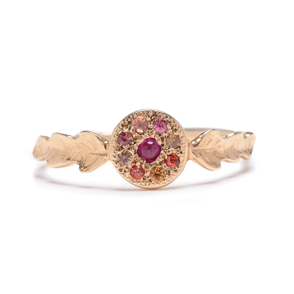 Two Leaf Ruby & Sapphire Ring - Lori McLean