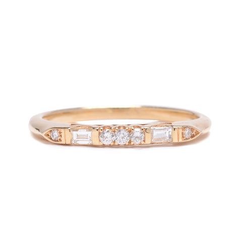 Baguette Mix Diamond Ring - Lori McLean