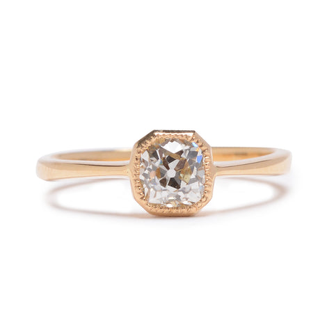 Modernist Old Mine Diamond Ring