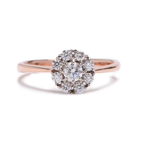 Petite Diamond Cluster Ring - Lori McLean