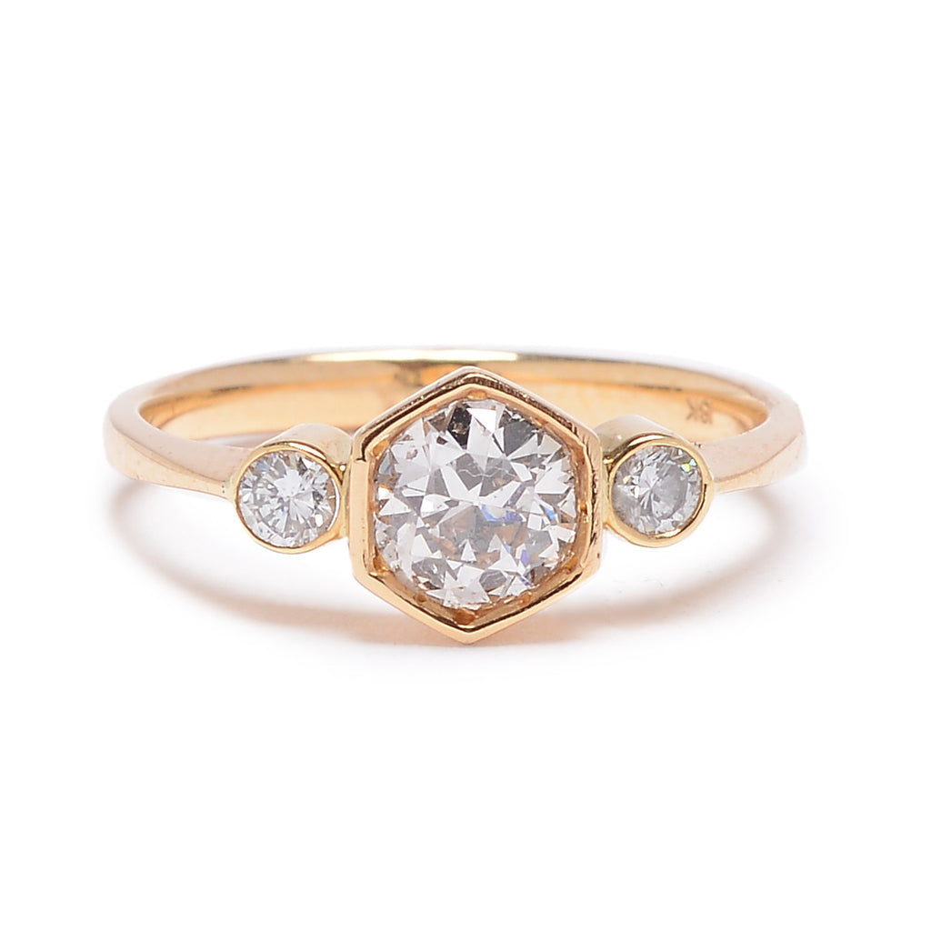 Hexagon Trio Ring Setting - Lori McLean
