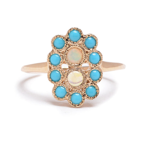Many Turquoise & Opal Ring - Lori McLean