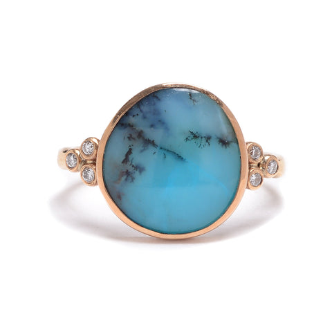 Peruvian Opal & Diamond Ring - Lori McLean