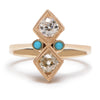 Antique Diamonds Jester Ring (OOaK) - Lori McLean