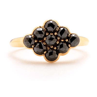 Nine Stone Black Diamond Ring - Lori McLean