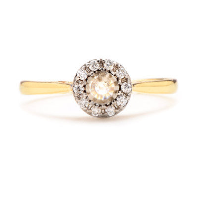 Rose Cut Diamond Halo Ring - Lori McLean