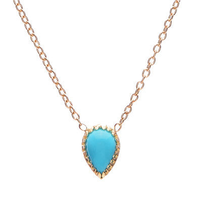 Pear Drop Turquoise Necklace - Lori McLean
