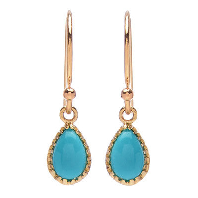 Teardrop Turquoise Earrings - Lori McLean
