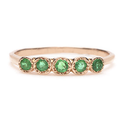 Five Emerald Ring - Lori McLean