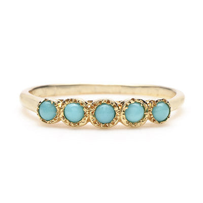 Five Turquoise Ring - Lori McLean