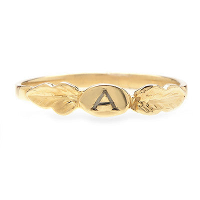Two Leaf Signet Ring - Lori McLean