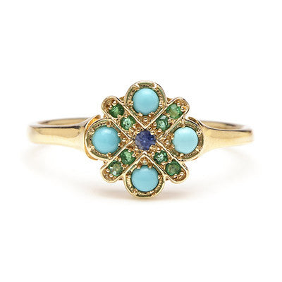 Four Cross Turquoise Ring - Lori McLean
