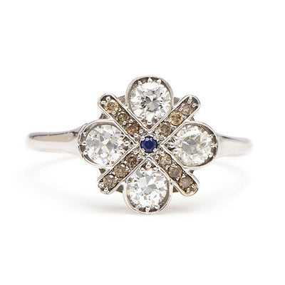 Large Four Cross Diamond Ring - Lori McLean