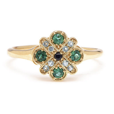 Four Cross Emerald Ring - Lori McLean