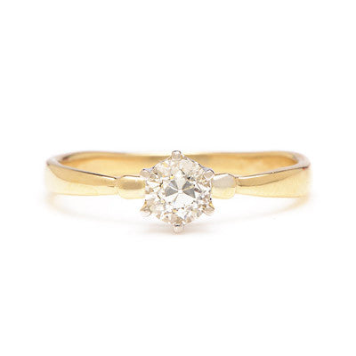 Old European Cut Diamond Solitaire Ring - Lori McLean
