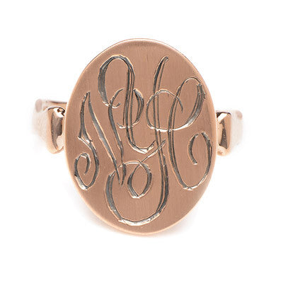 Long Saddle NYC Signet Ring - Lori McLean