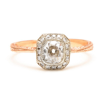 Deco Old Mine Cut Diamond Setting - Lori McLean