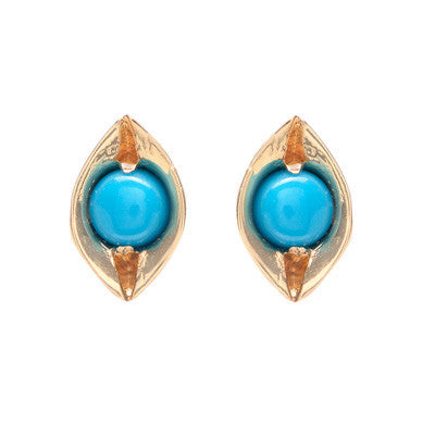 Evil Eye Turquoise Earrings - Lori McLean