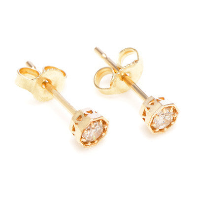 Octagonal Vintage Diamond Earrings - Lori McLean