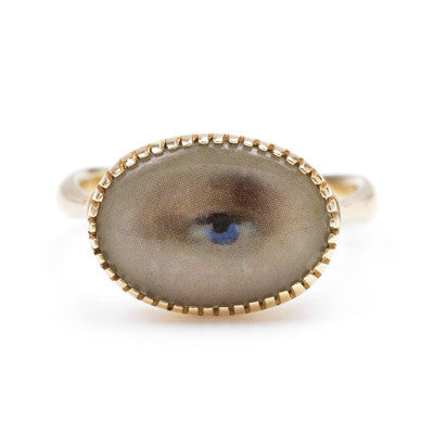 Portrait Eye Ring in Gold - Lori McLean