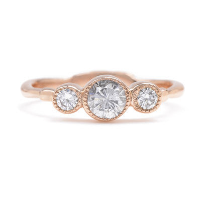 Double Infinity Diamond Ring in Rose Gold - Lori McLean