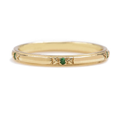 Arrow with Emeralds Band - Lori McLean