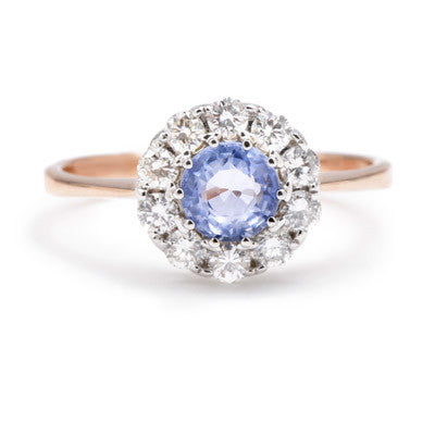 Pale Sapphire Cluster Ring - Lori McLean
