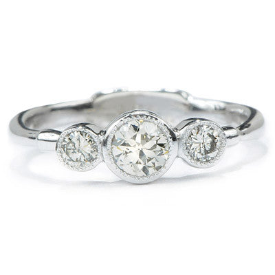 Double Infinity Diamond Ring in White Gold - Lori McLean