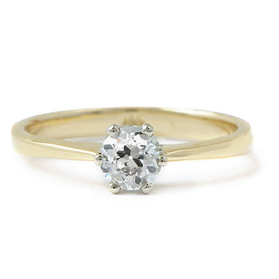 Tapered Deco Solitaire Setting - Lori McLean