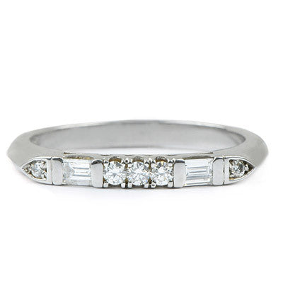 Platinum Baguette Mix Diamond Ring - Lori McLean