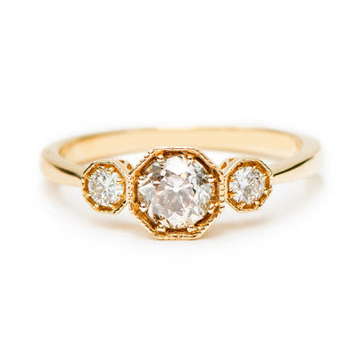 Large Octagon Trio Ring - Lori McLean
