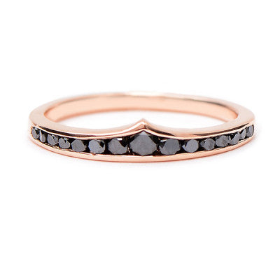 Wonder Woman Black Diamond Ring - Lori McLean