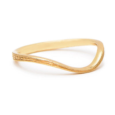 Curving Hand Engraved Band - Lori McLean