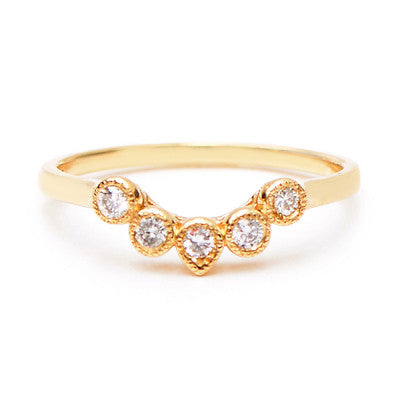 Curved Five Diamond Ring - Lori McLean