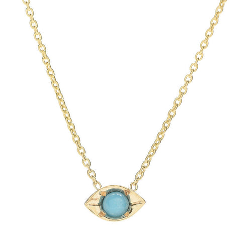 Turquoise Evil Eye Necklace - Lori McLean